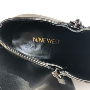 Nine West Shoes - Nine West Binni Black Leather Booties Size 7
